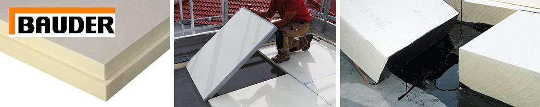 Теплоизоляционные плиты Bauder PIR M/MF